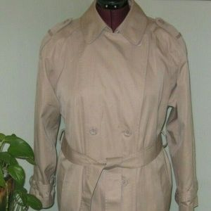 Vintage Plus Size 14 Long Belted Trench Coat Lined
